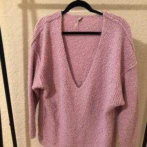free people pink oversized sweater
